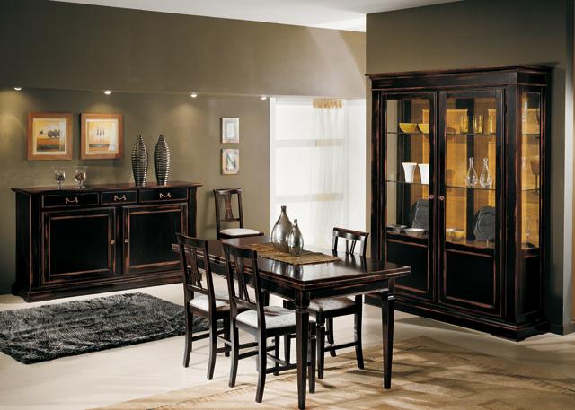 Parete attrezzata classica comp 22 for Arredare casa classica moderna