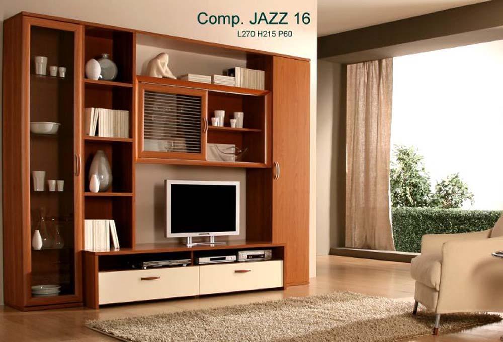 Parete attrezzata moderna composizione 8 for Mobili pareti attrezzate moderne